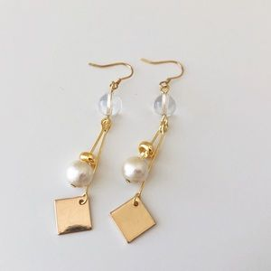 Handmade earring with thin 18K layer